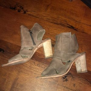 Free People Peep Toe Bootie